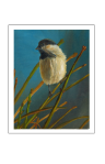 chickadee oil painting by Yeshua's Child Art