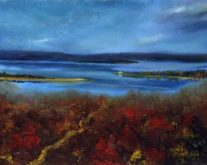 Possum Kingdom Lake Texas oil painting landscape by Yeshua's Child Art