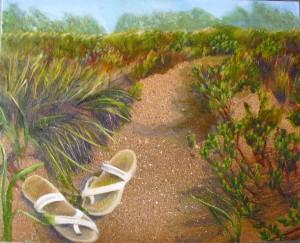 Beach oil painting by yeshuaschildart