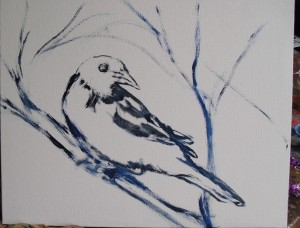 sketch for oriole painting