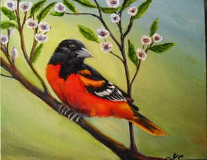 blatimore oriole oil painting by yeshuas child art