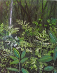 """Lake County Michigan Ferns"" original oil painting by Yeshua's child art"