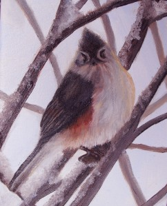 oil painting of titmouse by Yeshua's Child Art