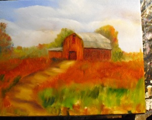 Lesson 2 in how to paint a barn in oils