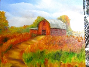 Lesson 2, second part in How to Paint a Barn