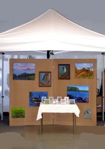 a photograph of my art fair booth
