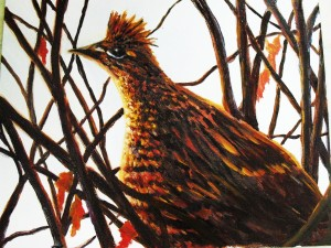 """Ruffed Grouse"" is one of the Birds of Michigan series of original oil paintings by Yeshua's Child Art"