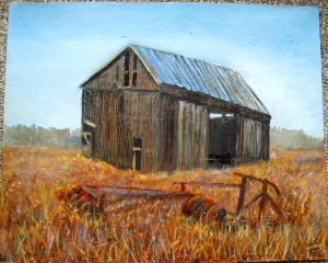 Old Michigan Painting, oil painting by Yeshua's Child Art studio